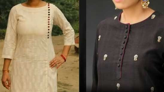Front Neck Design for Kurti