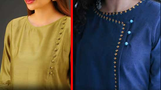 Front Neck Design of Kurti