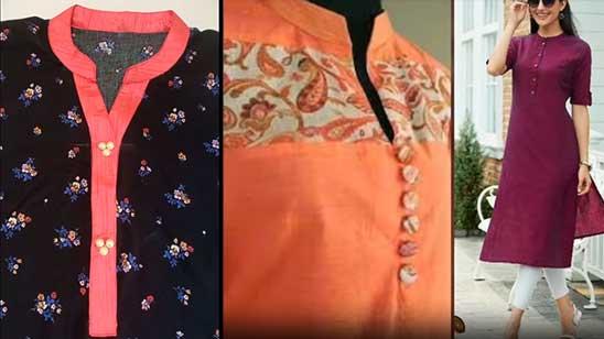 Half Collar Neck Design of kurtis