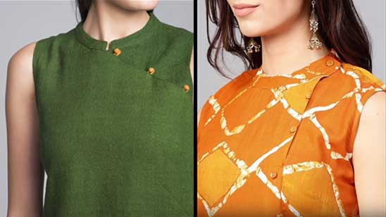 High Neck Kurti Pattern