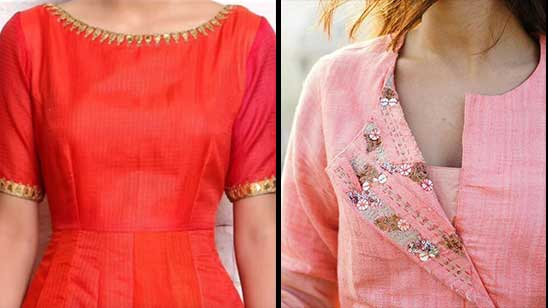 Kurti Neck Design with Boat Neck