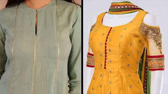 Kurti Neck Design with High Neck