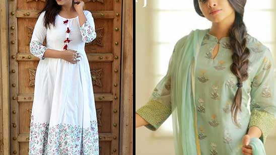 Lace in Kurti Neck Design