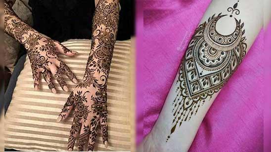 Arm Mehndi Design Simple