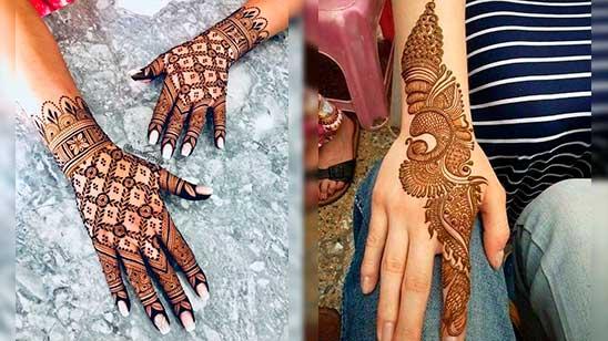 Back Hand Mehndi Design Easy