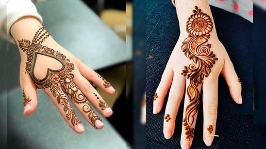 Back Hand Simple Mehndi Design