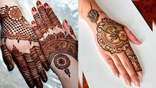 Back Mehndi Design Simple