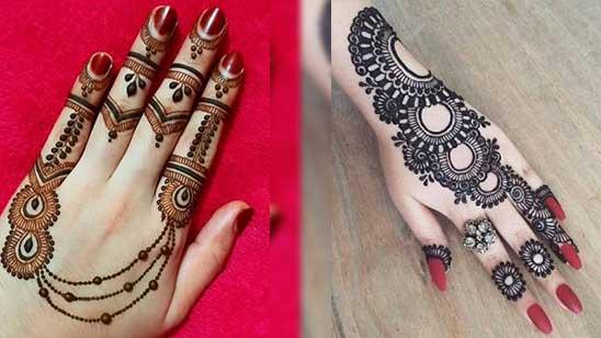 Easy Bangle Mehndi Design