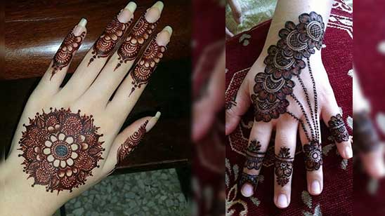 Easy Bangle Mehndi Designs