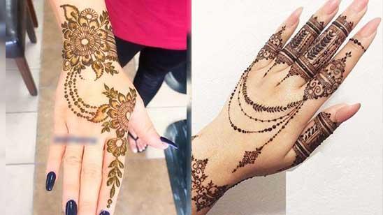 Easy Bracelet Mehendi Design