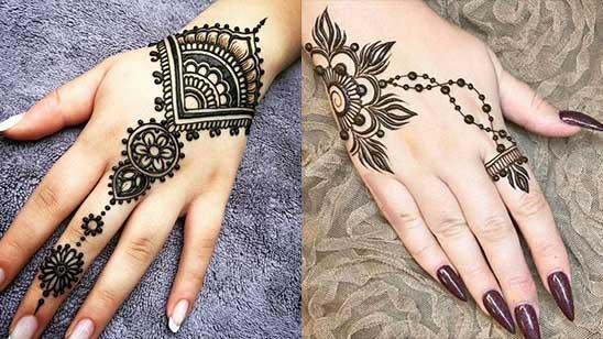 Easy Bracelet Mehndi Design
