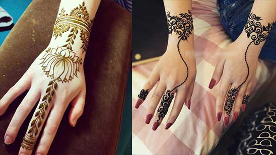 Easy Bracelet Mehndi Designs