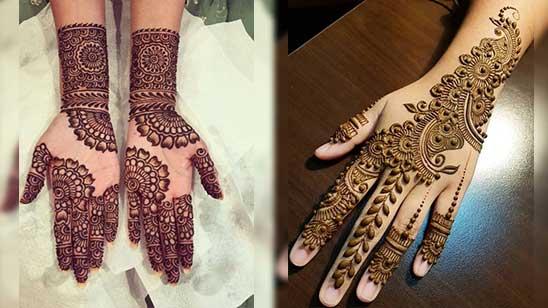 Easy Bridal Mehendi Design