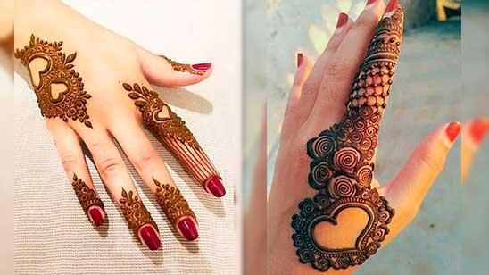 Easy Heart Henna Design