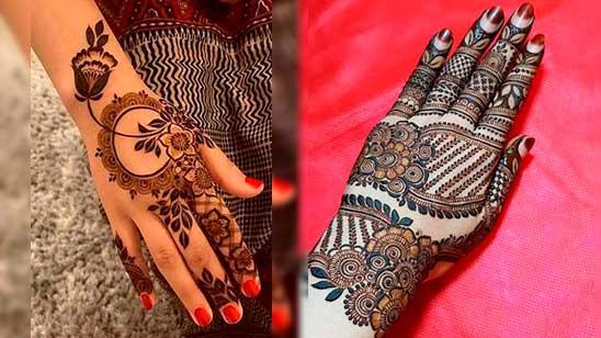 Easy Khafif Mehndi Design