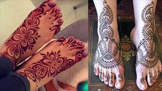 Easy Leg Mehndi Design