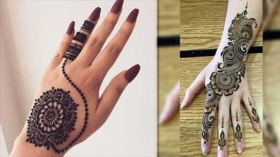 Easy Mehendi Design for Jewellery
