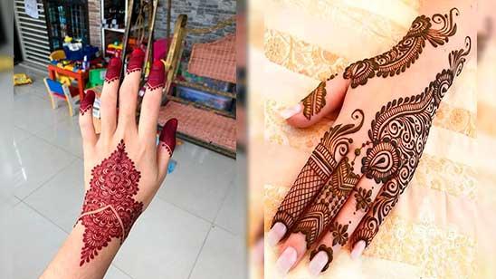 Easy Mehendi Design of Jewellery