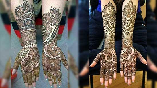 Easy Mehndi Design of Arm