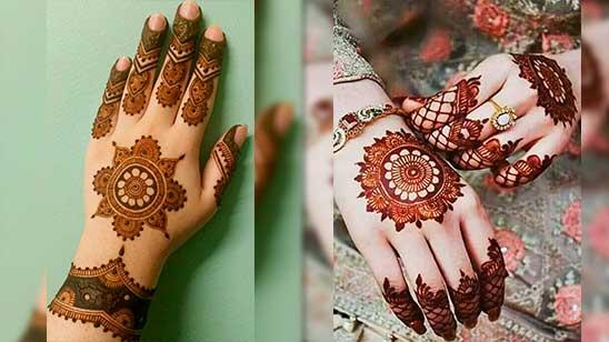 Easy Mehndi Design of Circle