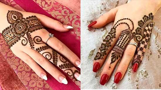 Easy Mehndi Design of Finger