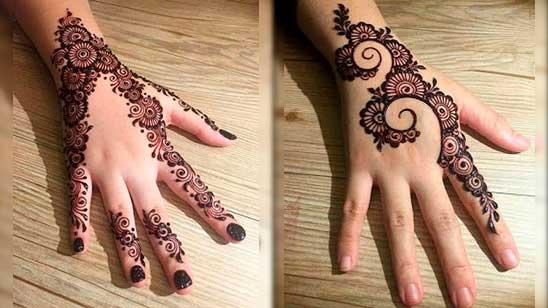 Easy Mehndi Design of Flower