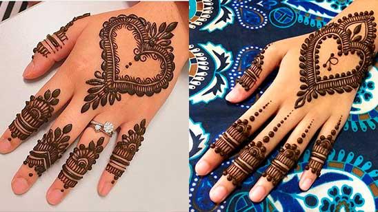 Easy Mehndi Design of Heart