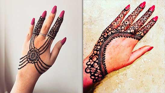 Easy Mehndi Design of Jewellery