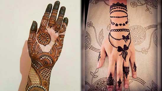 Easy Mehndi Design of Khafif