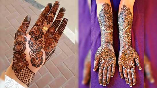 Easy Mehndi Design of Palm