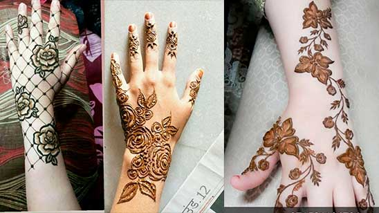 Easy Mehndi Design of Rose
