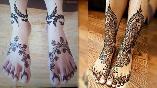 Easy Mehndi Designs for Legs
