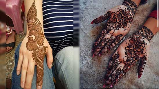 Easy Mylanchi Mehndi Design