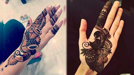 Easy Palm Mehndi Design