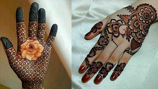 Easy Rose Mehndi Design