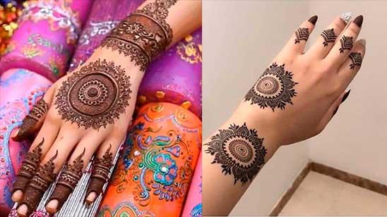 Easy Round Mehndi Design