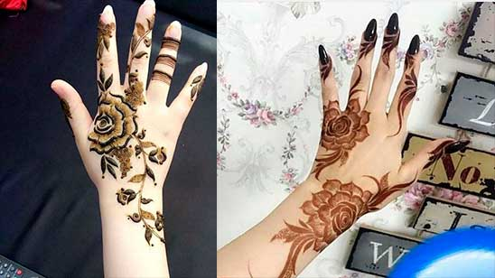 Easy and Simple Mehndi Design of Rose