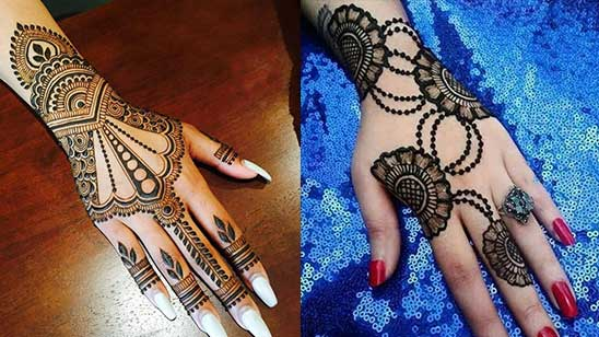 Easy and Simple Bangle Mehendi Design
