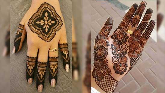 Easy and Simple Bridal Mehendi Design