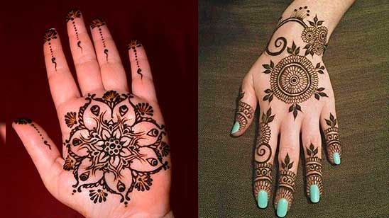 Easy and Simple Circle Mehndi Design
