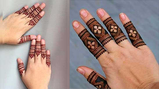 Easy and Simple Finger Mehndi Design