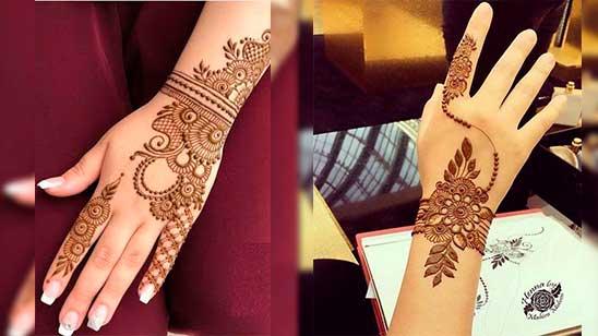 Easy and Simple Flower Mehendi Design