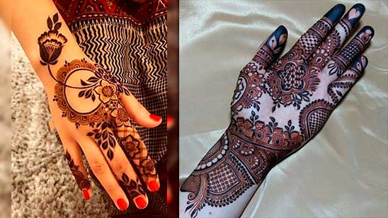 Easy and Simple Flower Mehndi Design