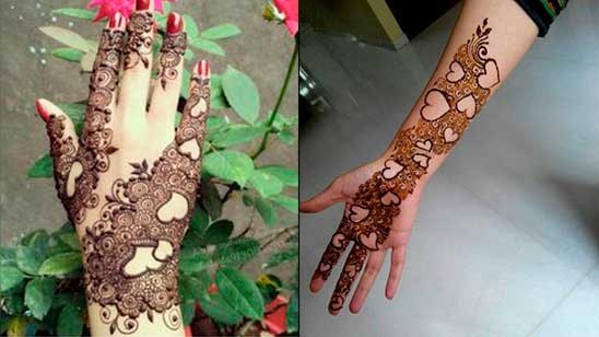 Easy and Simple Heart Henna Design