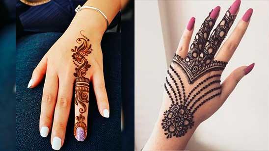Easy and Simple Jewellery Mehendi Design