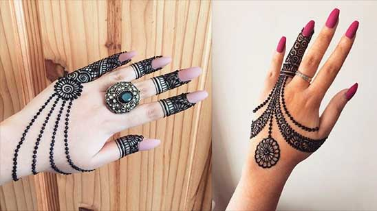Easy and Simple Jewellery Mehndi Design