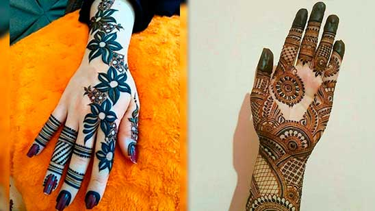 Easy and Simple Khafif Mehndi Design