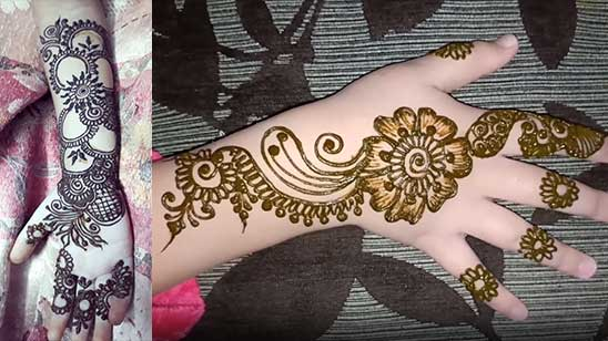 Easy and Simple Kids Mehndi Design