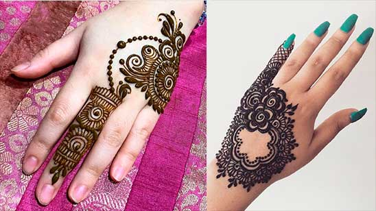Easy and Simple Mehndi Design of Jewellery