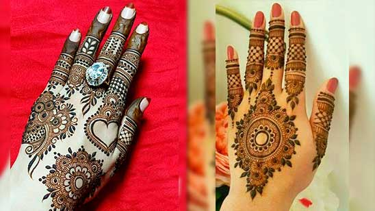 Easy and Simple Mehndi Design of Khafif